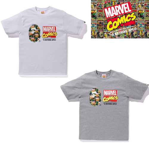 Sale! A BATHING APE BAPE x MARVEL CAMO TEE - happyjagabee store