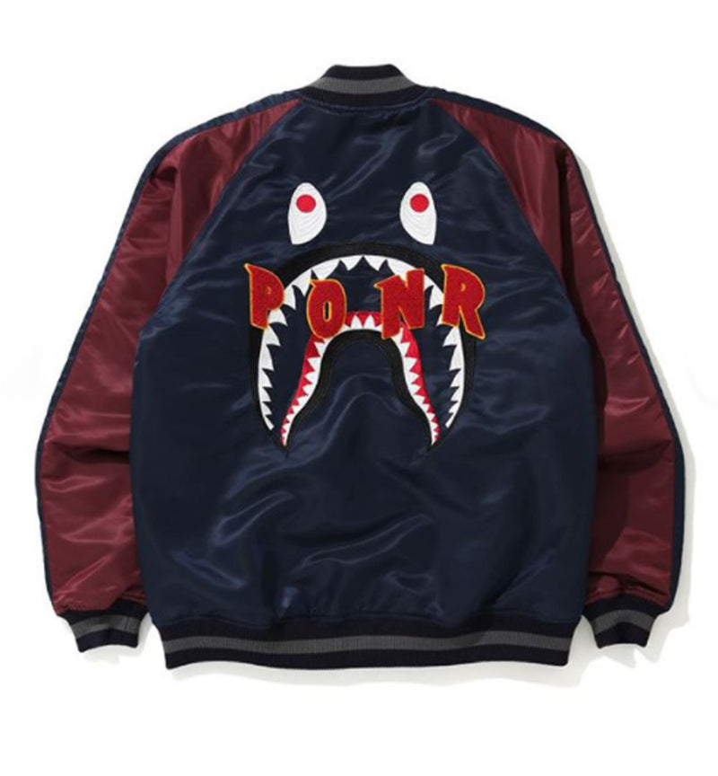 A BATHING APE SHARK SOUVENIR JACKET