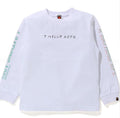 A BATHING APE BAPE KIDS JAPAN CULTURE SOUVENIR L/S TEE