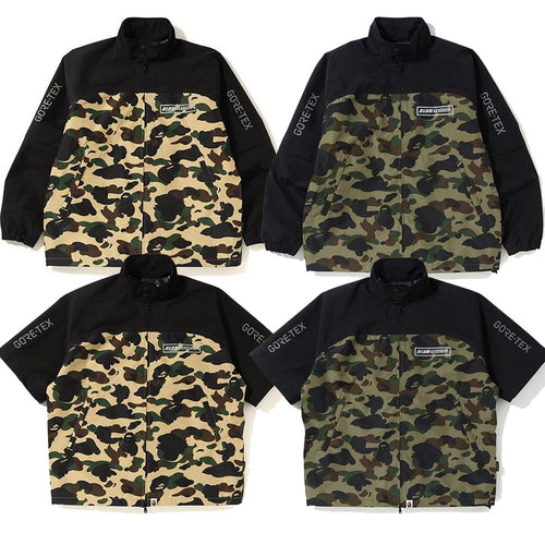 A BATHING APE GORE-TEX 1ST CAMO DETACHABLE SLEEVE JACKET