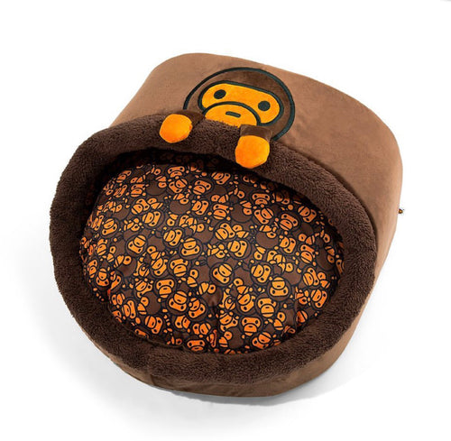 A BATHING APE BABY MILO STORE BABY MILO ROUND SHAPED PET BED - happyjagabee store