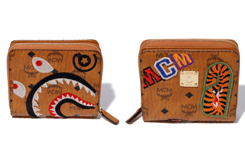 A BATHING APE MCM x BAPE SHARK ZIP WALLET - happyjagabee store