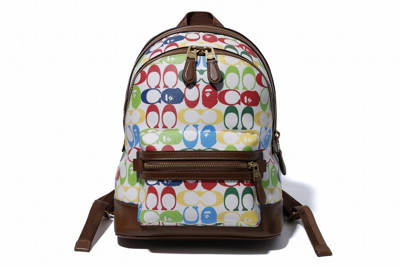 BAPE x COACH LADIES ACADEMY BACKPACK Multi - happyjagabee store