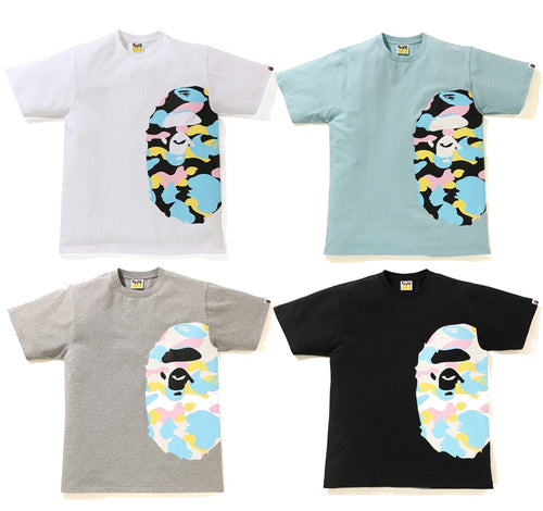 A BATHING APE NEW MULTI CAMO SIDE BIG APE HEAD TEE