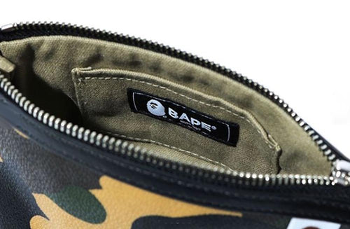 A BATHING APE CRAZY COLOR CAMO FULL ZIP HOODIE