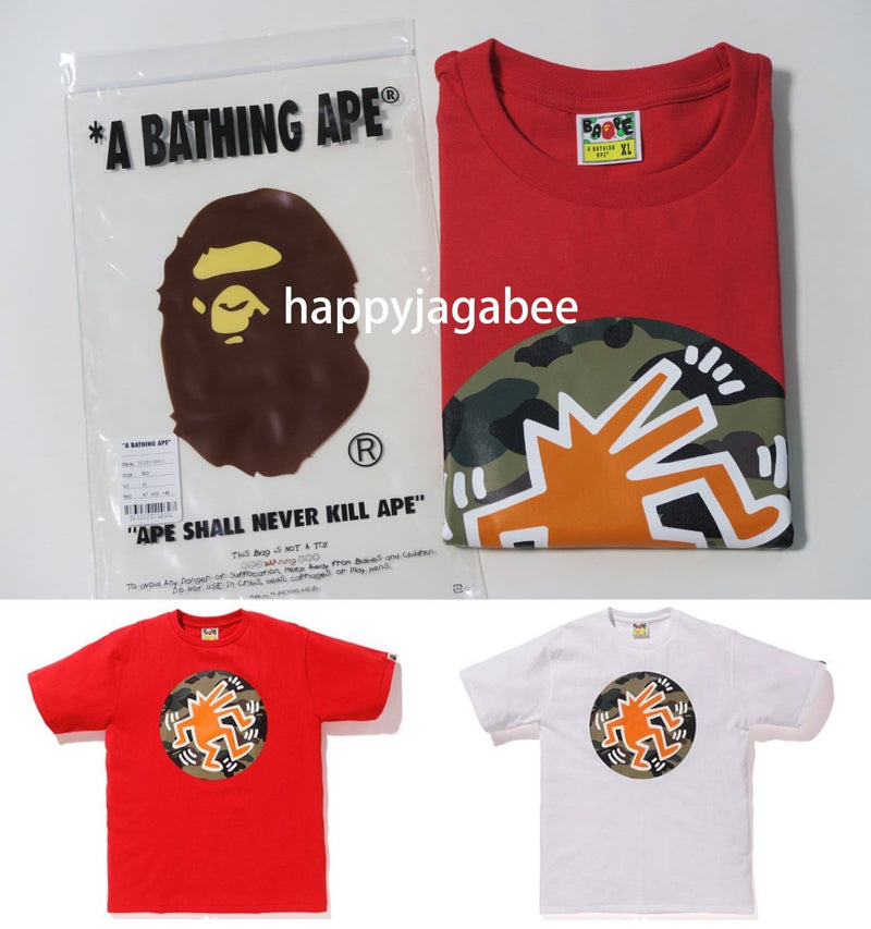 Sale! A BATHING APE x KEITH HARING TEE #5 - happyjagabee store