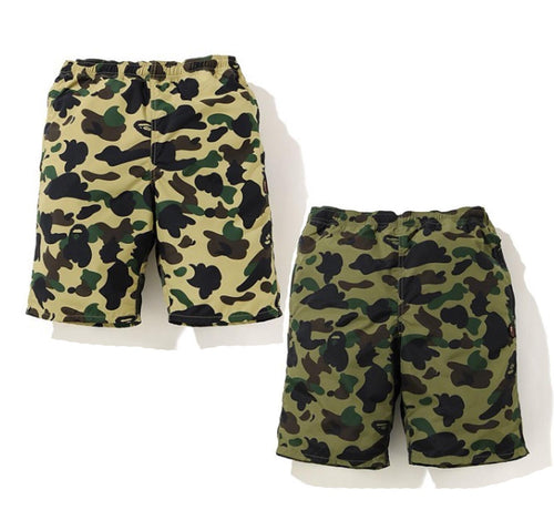 A BATHING APE 1ST CAMO BEACH SHORTS