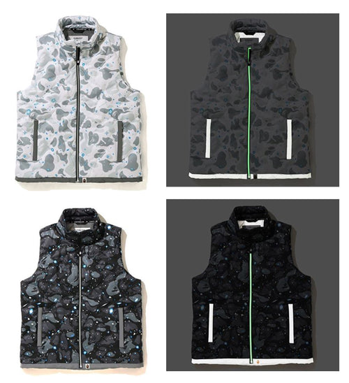 A BATHING APE SPACE CAMO DOWN VEST