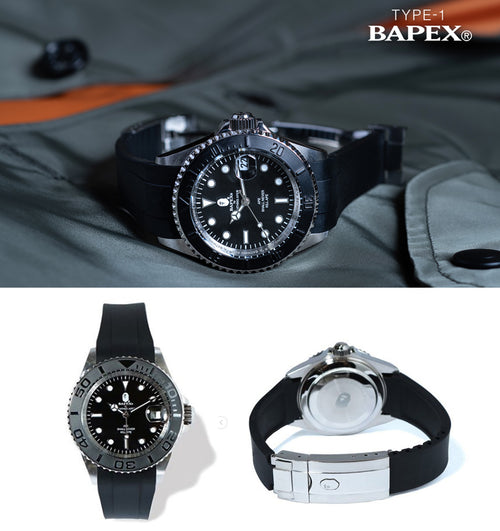 A BATHING APE TYPE 1 BAPEX  (RUBBER BAND) - happyjagabee store