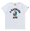 A BATHING APE Ladies' MULTI CAMO COLLEGE TEE