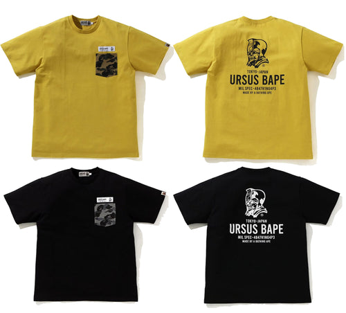 A BATHING APE URSUS CAMO POCKET TEE