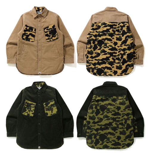 A BATHING APE 1ST CAMO CORDUROY RELAXED SHIRT JACKET
