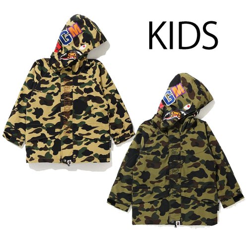 A BATHING APE BAPE KIDS 1ST CAMO MILO SHARK SNOWBOARD JACKET