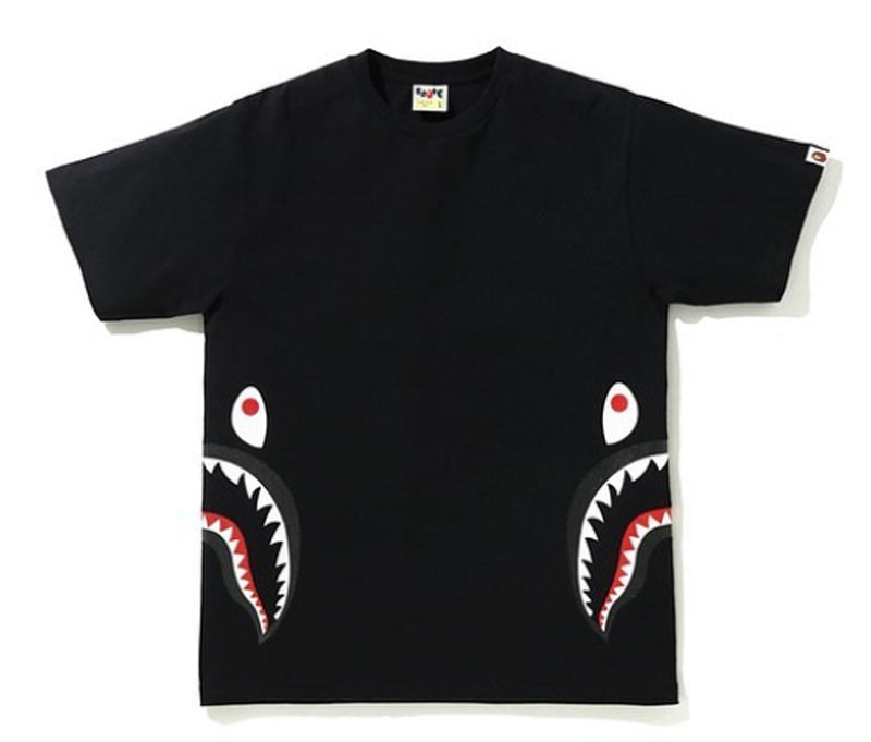 A BATHING APE GLITTER SIDE SHARK TEE