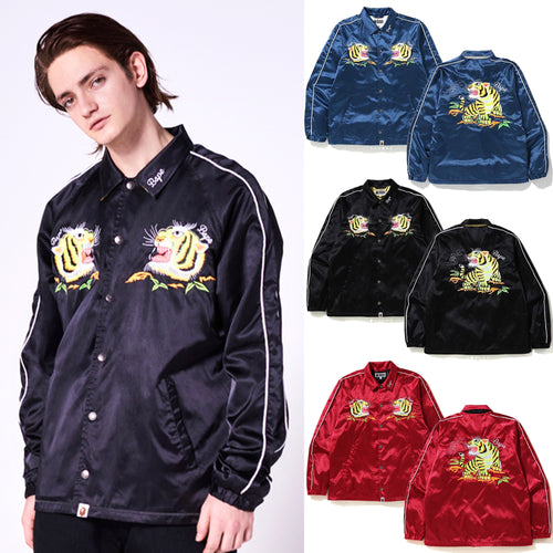 A BATHING APE TIGER EMBRIODERY COACH JACKET