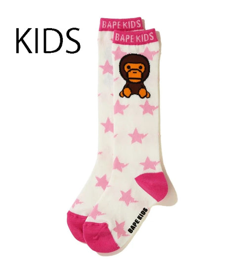 A BATHING APE BAPE KIDS STA BABY MILO LONG SOCKS