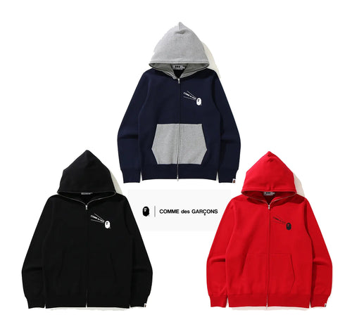 A BATHING APE × COMME des GARCONS CDG OSAKA x BAPE FULL ZIP HOODIE