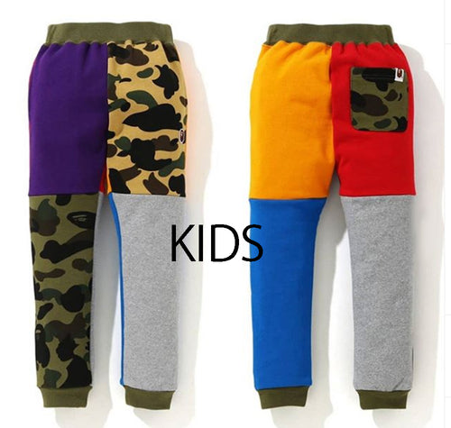 A BATHING APE BAPE KIDS 1ST CAMO CRAZY SLIM SWEAT PANTS
