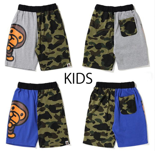 A BATHING APE BAPE KIDS 1ST CAMO BABY MILO SHORTS