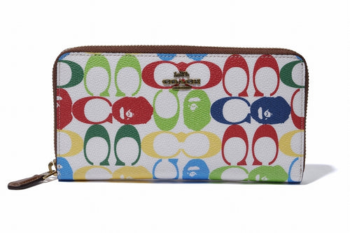 BAPE x COACH ZIP AROUND WALLET Multi - happyjagabee store
