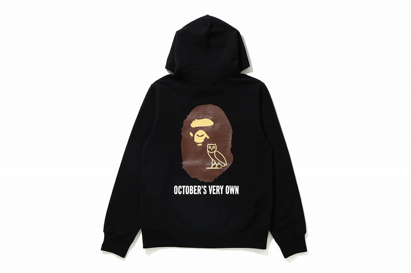 A BATHING APE x OCTOBER'S VERY OWN OVO BAPE PULLOVER HOODIE