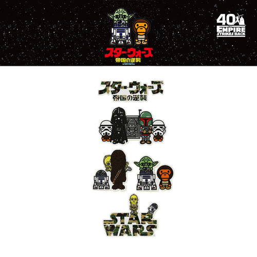 A BATHING APE STAR WARS × BAPE STICKER SET