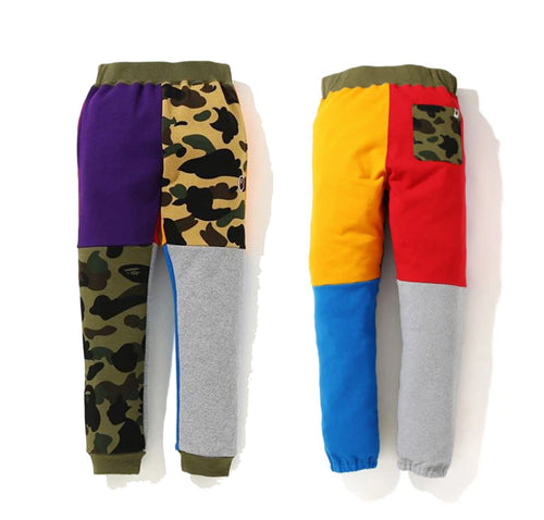 A BATHING APE 1ST CAMO CRAZY SWEAT PANTS