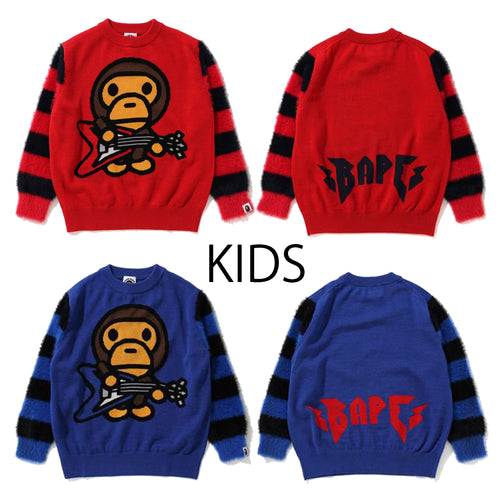 A BATHING APE BAPE KIDS BABY MILO ROCK KNIT