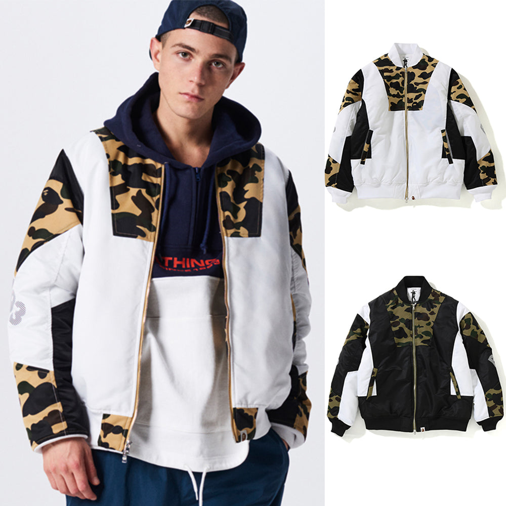 ce3705e28db9d A BATHING APE 1ST CAMO COLOR BLOCK PADDED JACKET - happyjagabee store ...