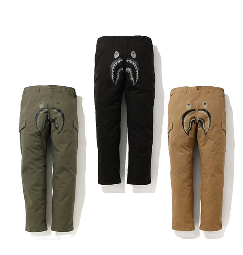A BATHING APE SHARK 6POCKET PANTS