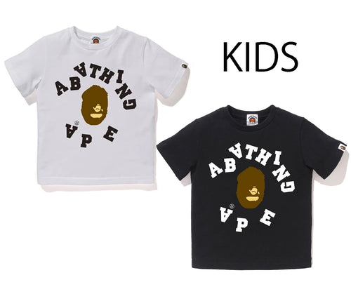 A BATHING APE BAPE KIDS BROKEN COLLEGE TEE