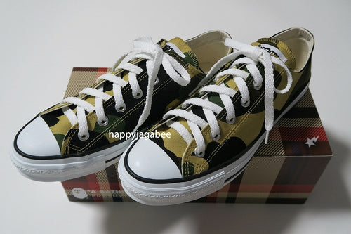 SALE!! A BATHING APE 1ST CAMO APE STA LOW Yellow