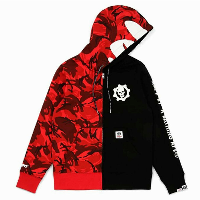 AAPE BY A BATHING APE x GEARS of WAR 5 ZIP UP HOODIE - happyjagabee store