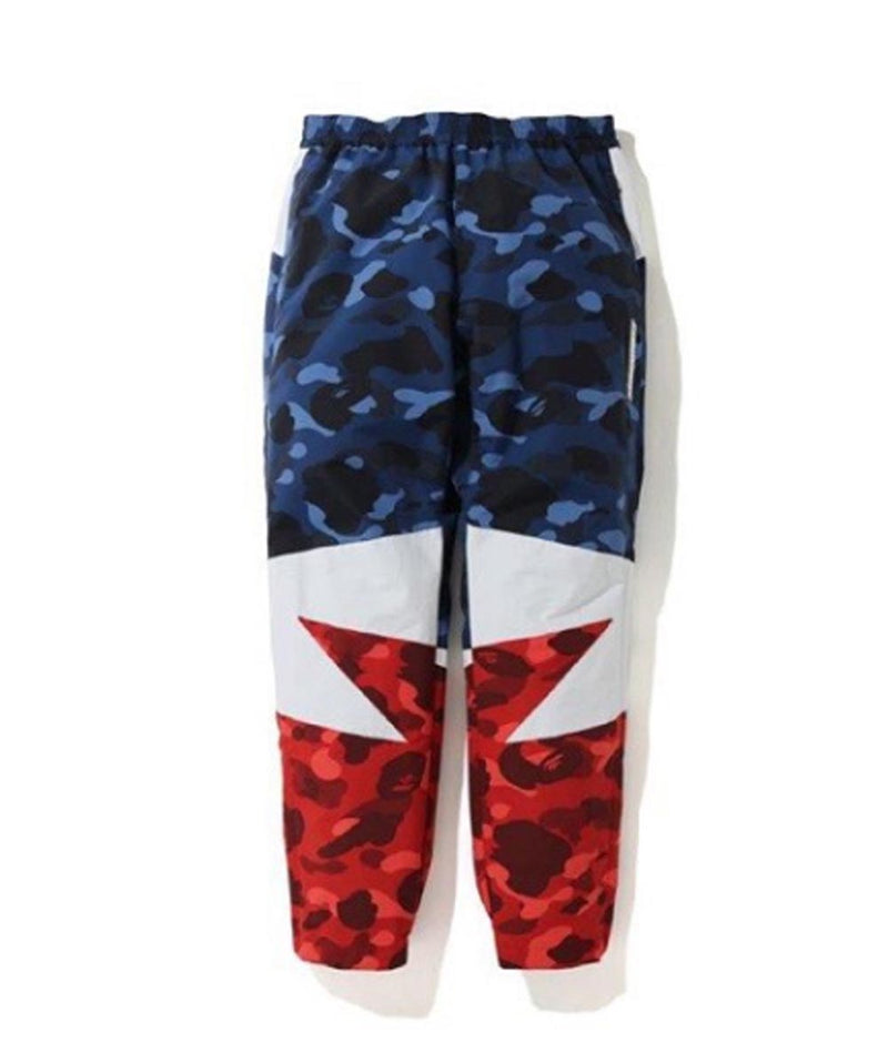 A BATHING APE COLOR CAMO BAPESTA TRACK PANTS - happyjagabee store