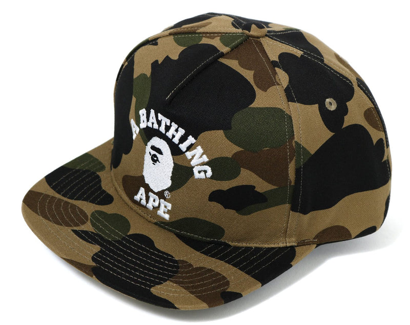 A BATHING APE 1ST CAMO COLLEGE SNAP BACK CAP - happyjagabee store