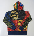 A BATHING APE MIX CAMO CRAZY SHARK FULL ZIP HOODIE - happyjagabee store