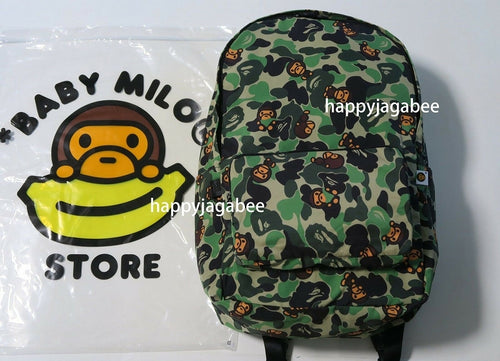 A BATHING APE BABY MILO STORE ABC MILO FOLDABLE BACK PACK - happyjagabee store