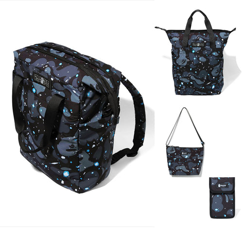 A BATHING APE SPACE CAMO MOMS 2WAY DAY PACK w/PHONE HOLDER & SHOULDER BAG - happyjagabee store
