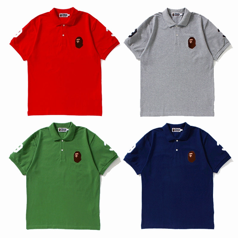A BATHING APE Men's APE HEAD 93 POLO - happyjagabee store