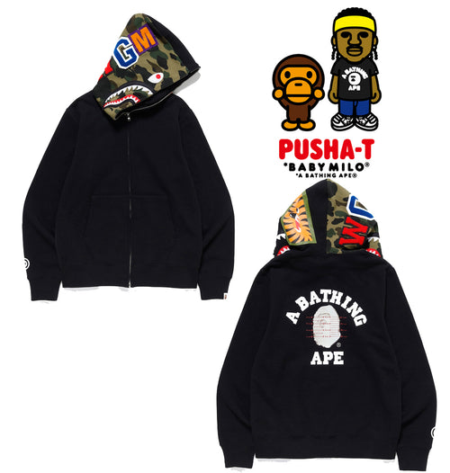 A BATHING APE PUSHA-T x BAPE SHARK FULL ZIP HOODIE