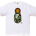 A BATHING APE ABC CAMO MILO ON APE HEAD TEE - happyjagabee store