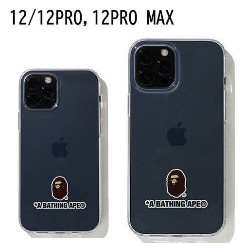 A BATHING APE A BATHING APE IPHONE 12/12 PRO / 12 PRO MAX CLEAR CASE