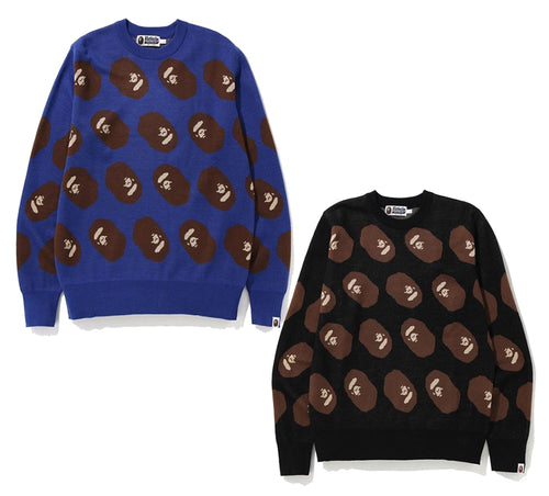 A BATHING APE APE HEAD KNIT - happyjagabee store