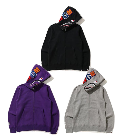 A BATHING APE SHARK FULL ZIP HOODIE