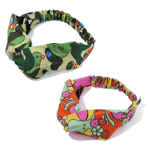A BATHING APE Ladies' ABC CAMO FLOWER HAIR BAND