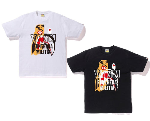 A BATHING APE TIGER SHARK TEE