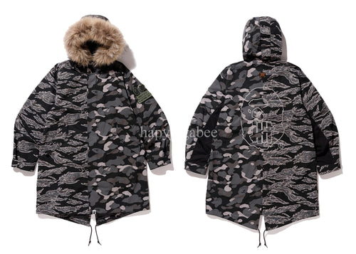 A BATHING APE BAPE x UNDEFEATED UNDFTD M-51 HOODIE JACKET - happyjagabee store