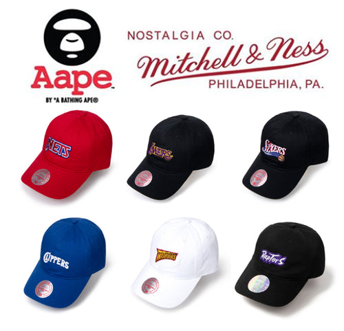 A BATHING APE - AAPE x Mitchell & Ness Strapback Hat