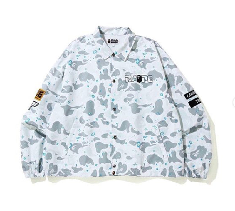 A BATHING APE RELAXED SPACE CAMO COACH JACKET - happyjagabee store