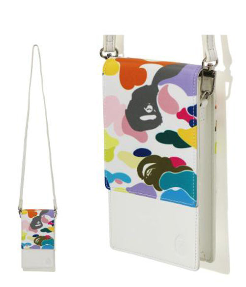 A BATHING APE Ladies' MULTI CAMO PHONE POUCH
